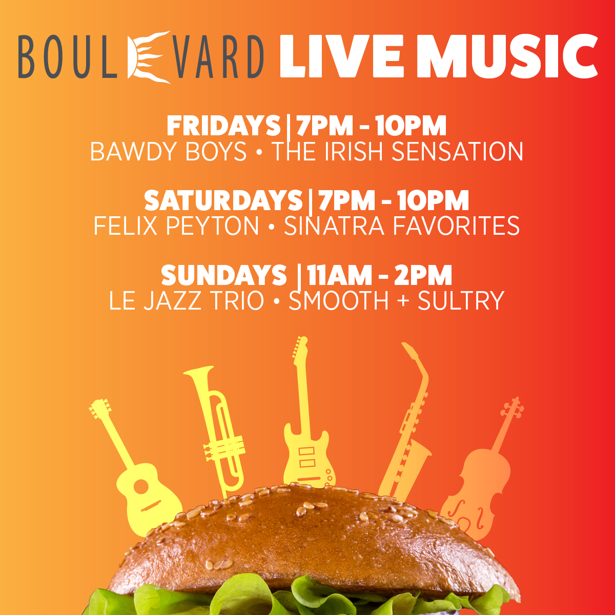 Live Music at the Boulevard