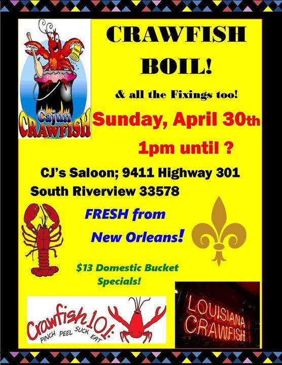 CJ's Saloon Annual Crawfish Boil