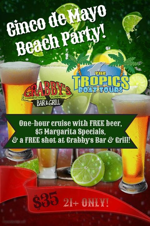 Cinco de Mayo Beach Party w/Crabby's Bar & Grill