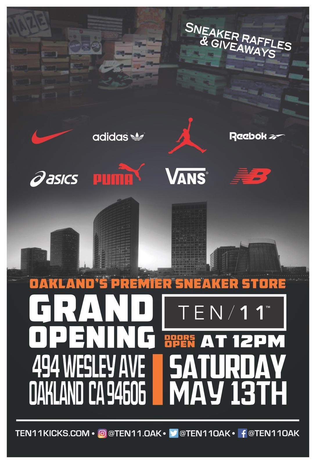 Grand Opening of Ten 11: Oakland's Premier Sneaker Store