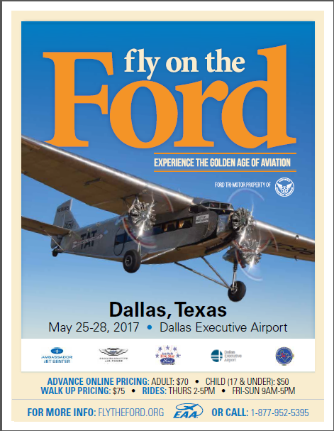 Fly on the 1929 Ford Tri-Motor Luxury Airliner