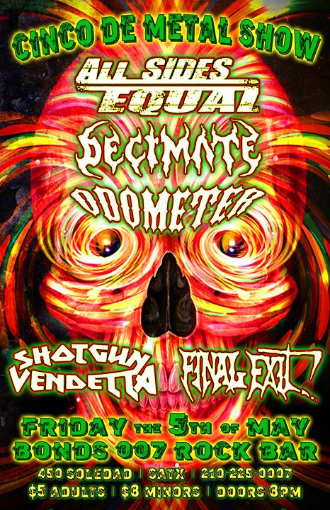 Bonds Rock Bar Celebrates Cinco De Metal With Decimate
