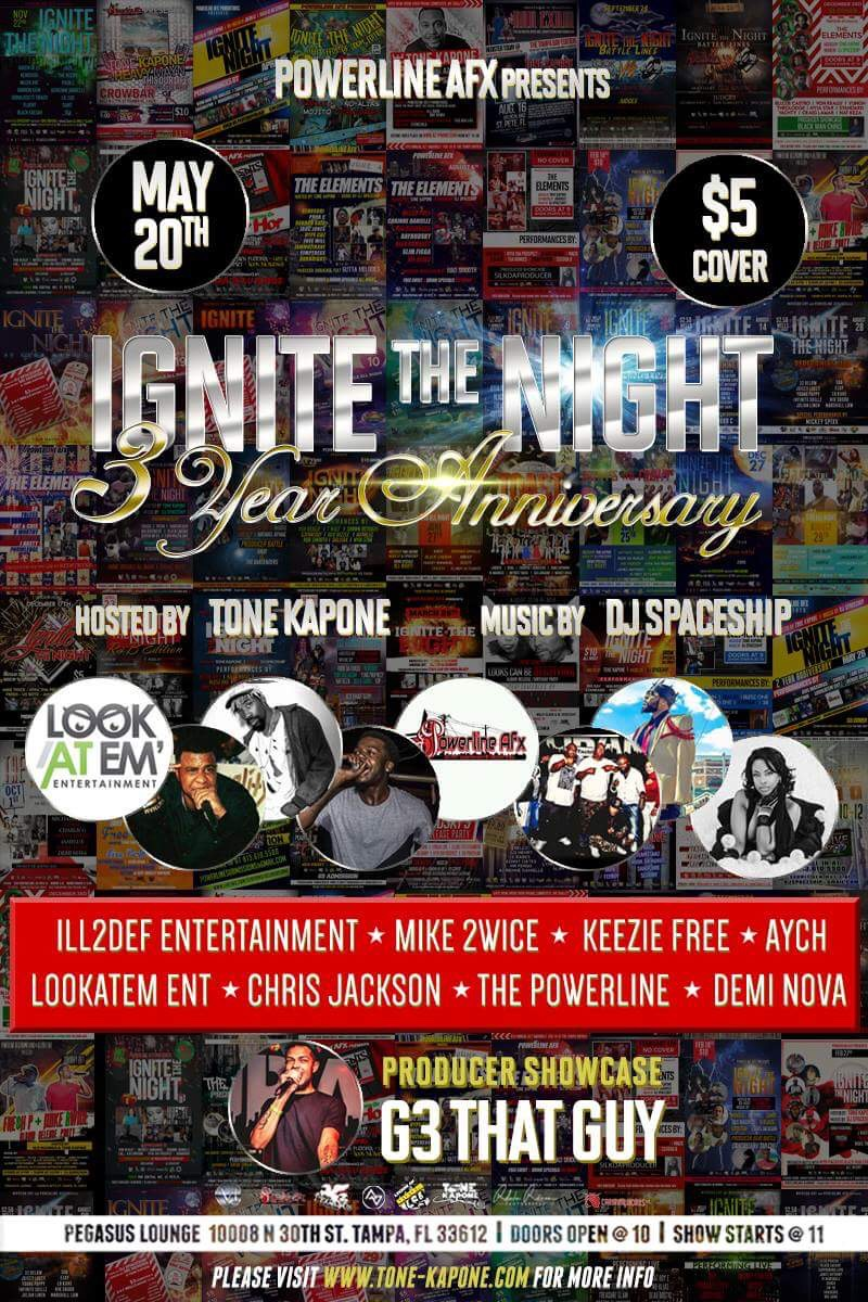 Ignite The Night 3 Year Anniversary