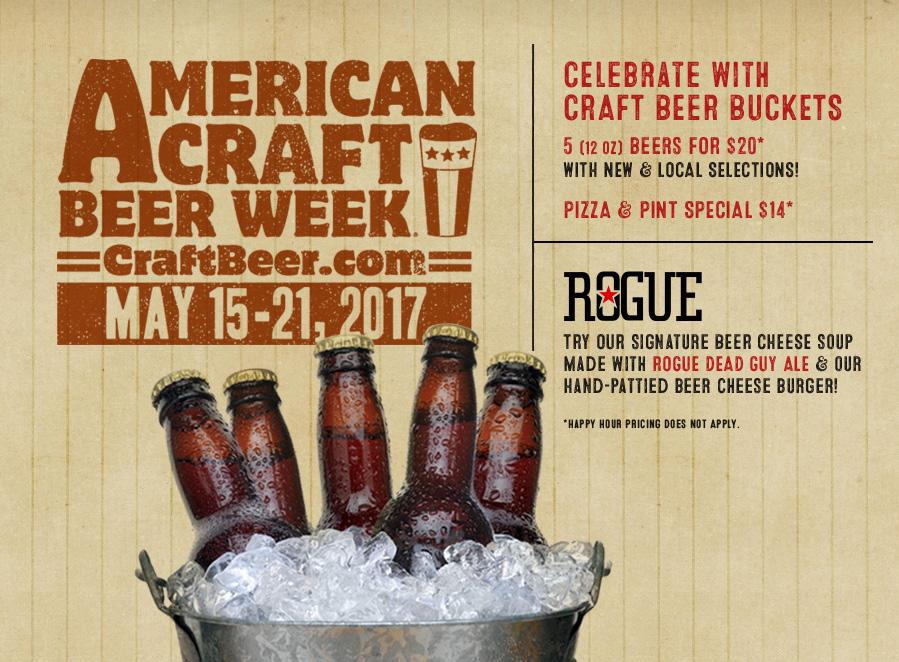 Buckets of Craft Beer at the Rusty Bucket