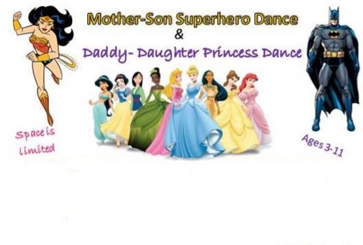 Mother-Son Superhero & Daddy-Daughter Princess Dance