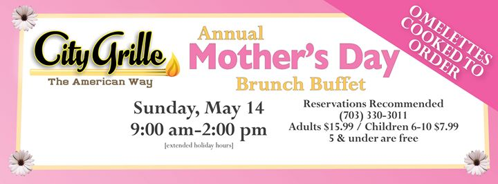Mother's Day Brunch Buffet at City Grille