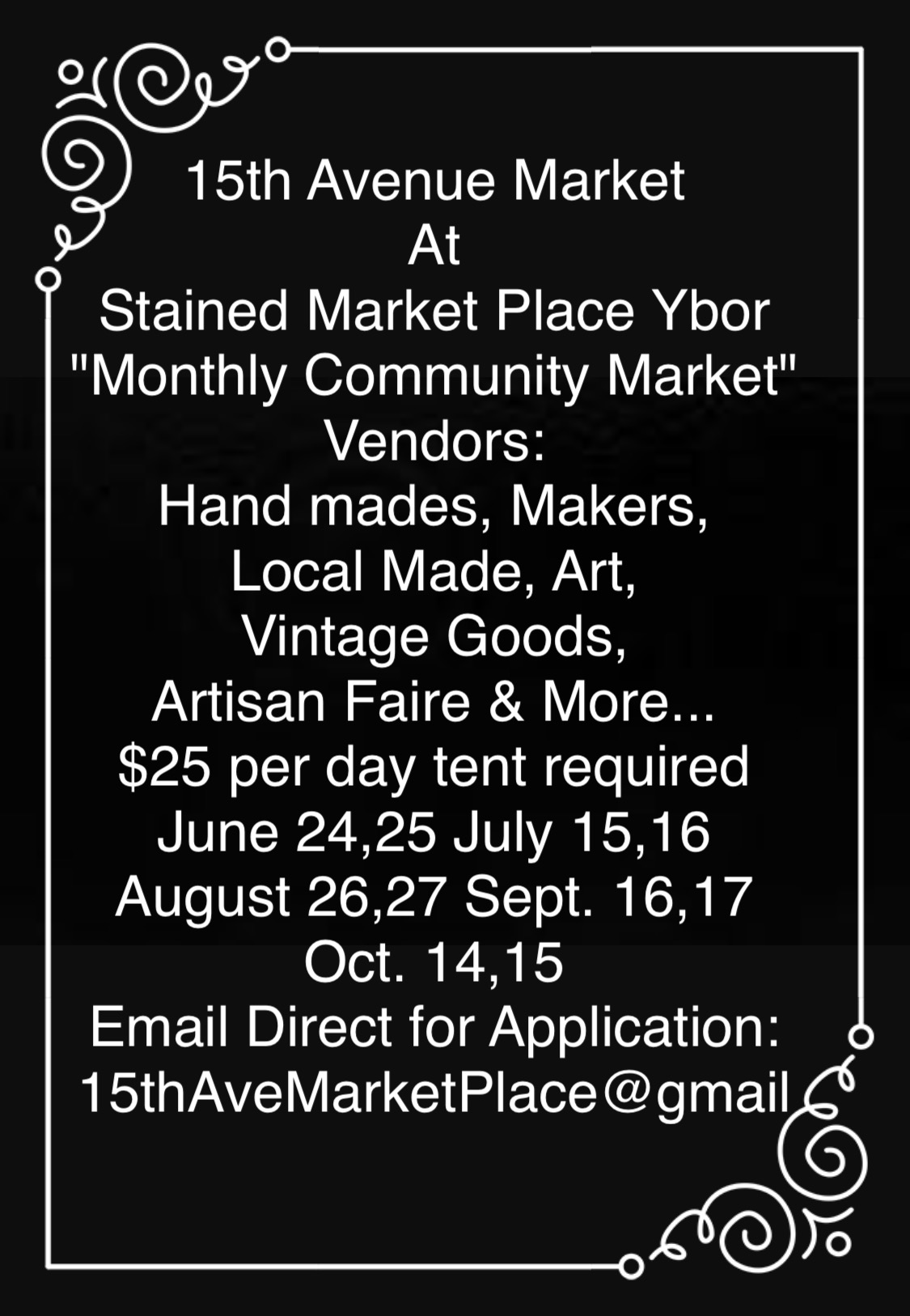 15th Avenue Market: Pop Up Monthly Market Ybor