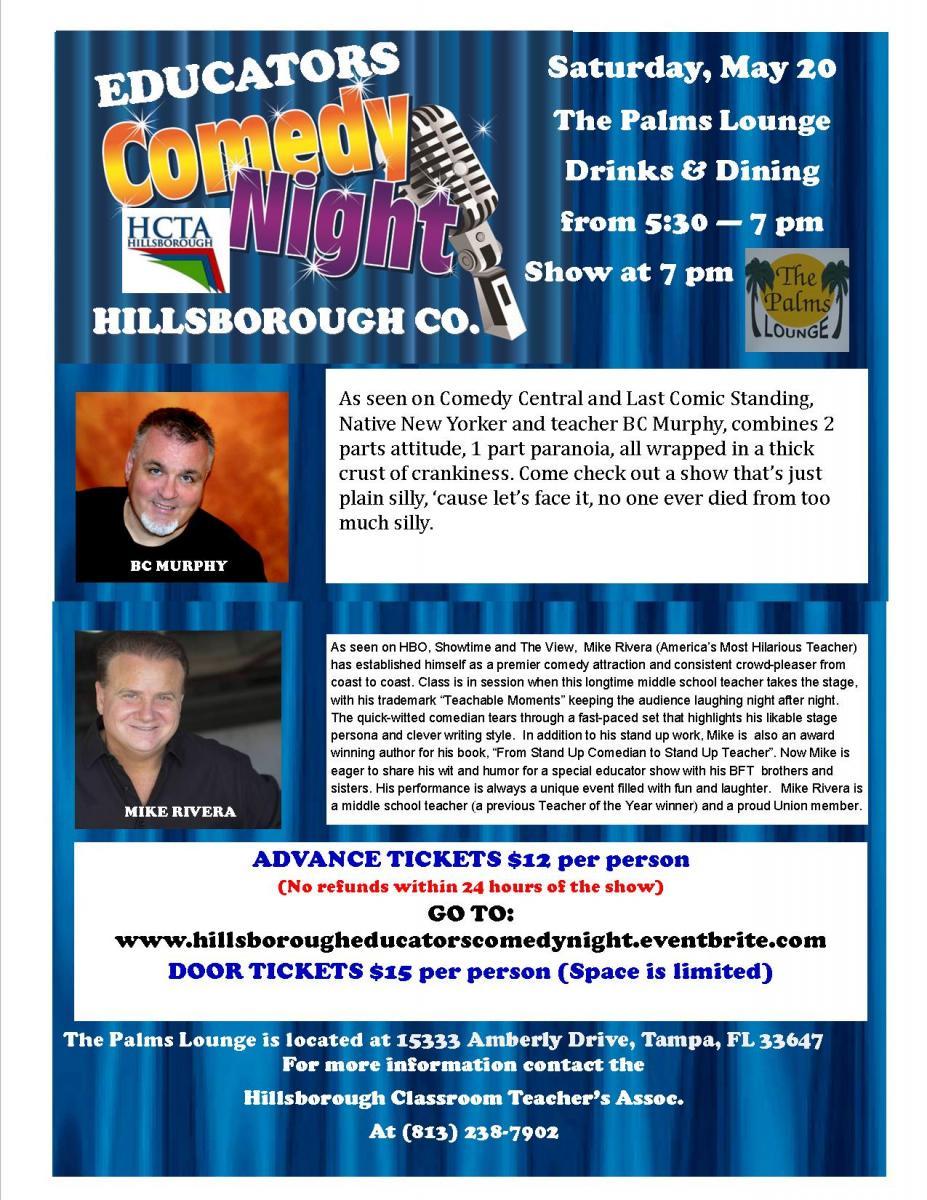 Hillsborough Teachers Appreciation Comedy Night