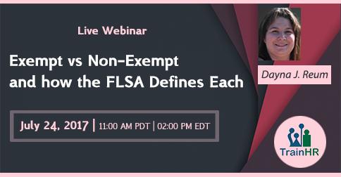 Exempt vs Non-Exempt and how the FLSA Defines Each