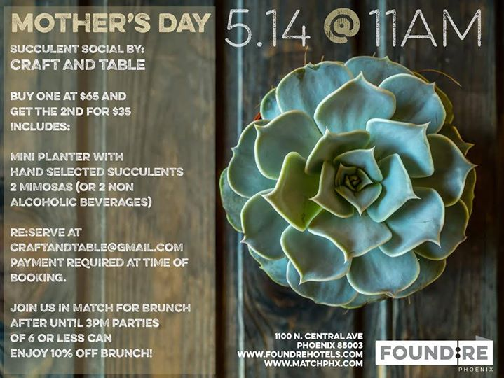 Mother's Day - Succulent Social
