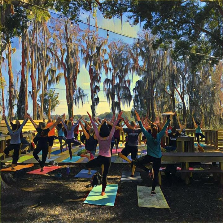 Yoga in the Beer Garden