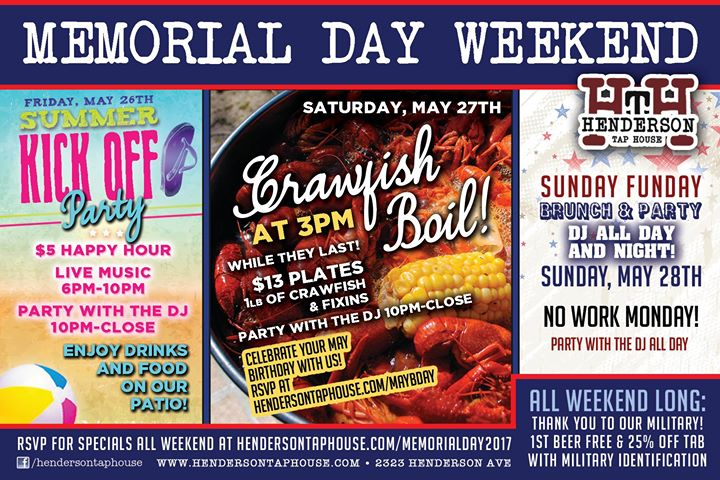 Memorial Day Weekend Celebration 2017!