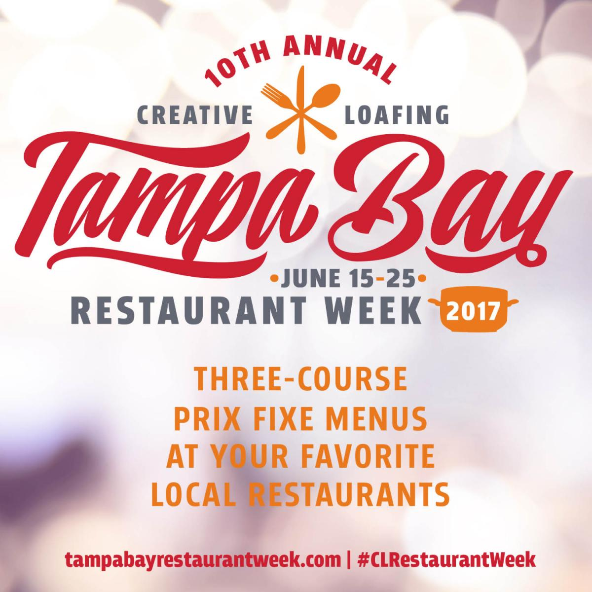 10th Annual Tampa Bay Restaurant Week 2017