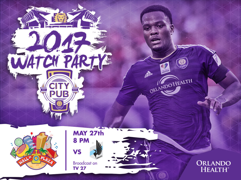 Orlando City SC Official Watch Party 2017   Wall Street Plaza