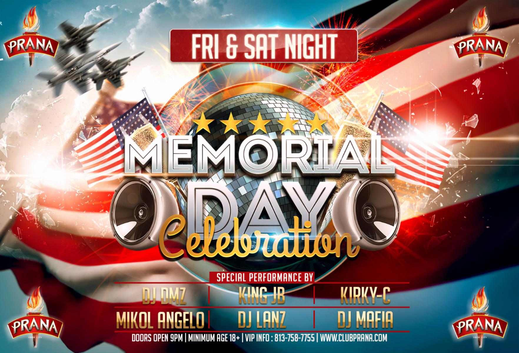 Memorial Day Weekend Friday at Club Prana