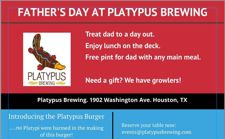 Father's Day at Platypus Brewing