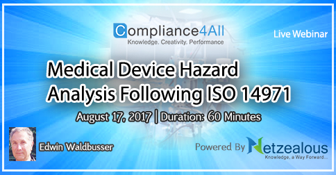 ISO 14971 Hazard Analysis at Medical Device - 2017