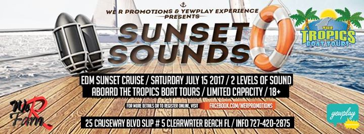 Sunset Sounds 4 Edm Sunset cruise / Rooftop party / After party