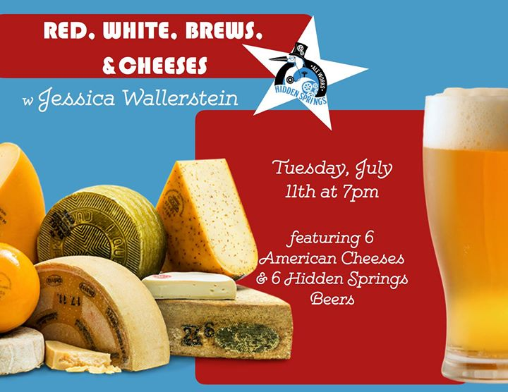 Red, White, Brews, & Cheeses w Jessica