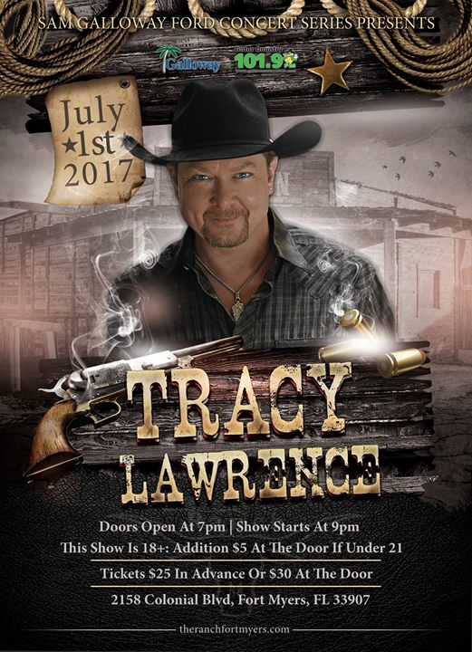 tracy lawrence sam galloway ford concert series fort myers fl jul 1 2017 7 00 pm. Black Bedroom Furniture Sets. Home Design Ideas