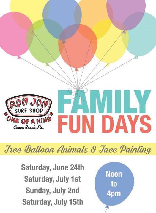 Family Fun Days - Ron Jon Surf Shop