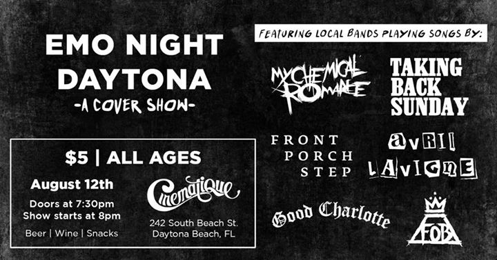 Emo Night Daytona: A Cover Show