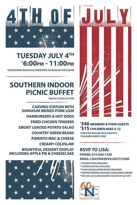 NCC's Annual Fireworks Viewing Celebration and Dinner