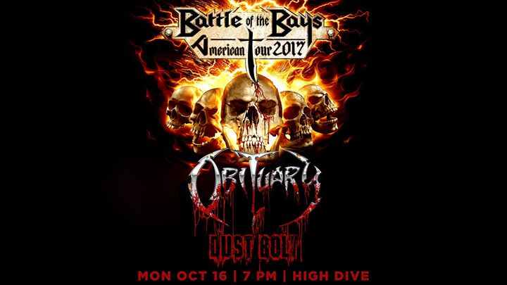 10/16 Obituary / Dust Bolt at High Dive