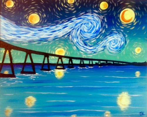 Wine & Canvas: Starry Coronado