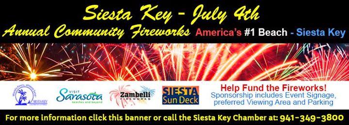 July 4th Siesta Key Community Fireworks