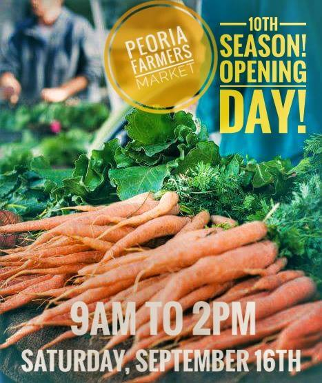 First day of the 10th Season at the Peoria Farmer's Market!