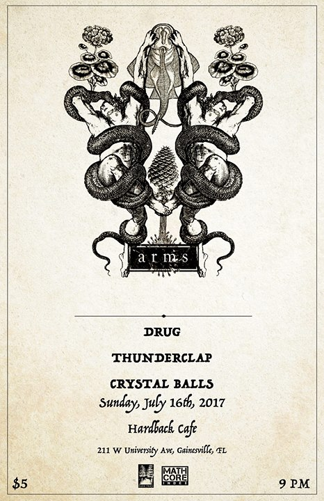 Arms, Drug, Thunderclap, Crystal Balls (Final Show) at Hardback Cafe