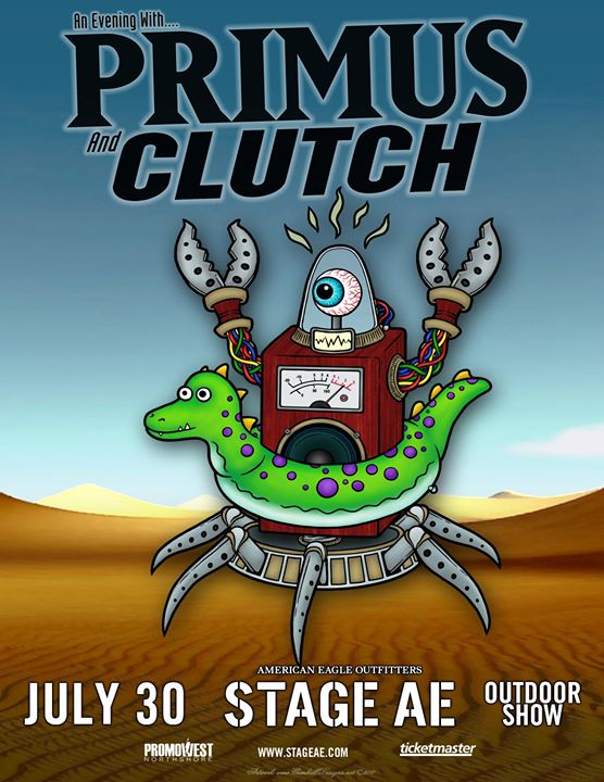 An Evening with Primus and Clutch at Stage AE!