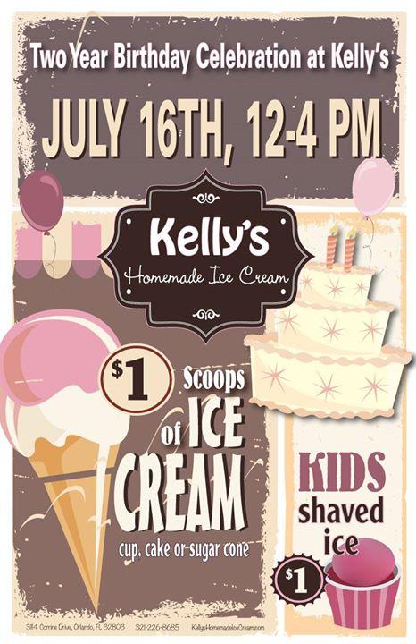 Kelly's Two Year Birthday Celebration + National Ice Cream Day