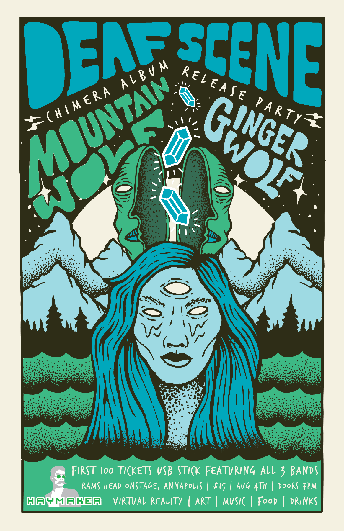 Deaf Scene's Album Release Party w/ Mountainwolf & Gingerwolf