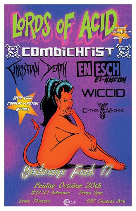 Lords Of Acid w/ Combichrist, Christian Death, En Esch, more