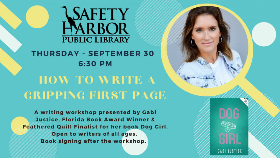Award Winning Author - Gabi Justice Presents: How to Write a Gripping First Page