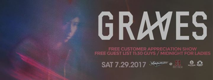 Graves – Free Guest List – Amp!d Saturdays – Tampa, FL
