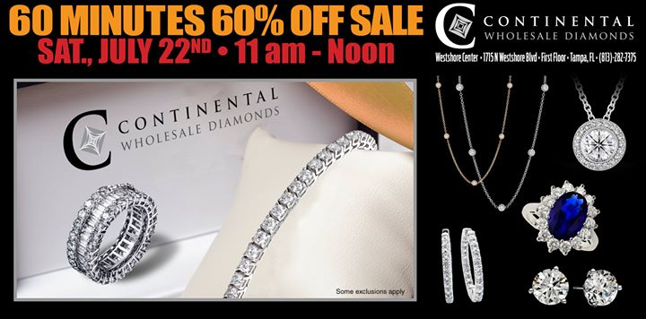 60 Minutes 60% off Sale
