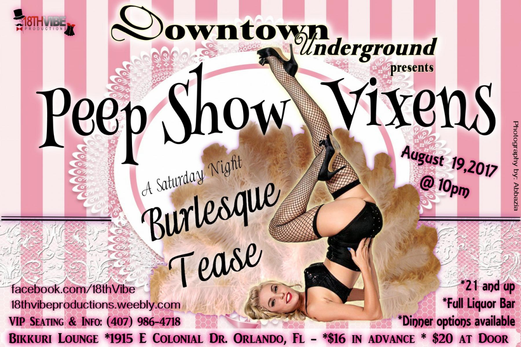 Peep Show Vixens Burlesque & Cabaret