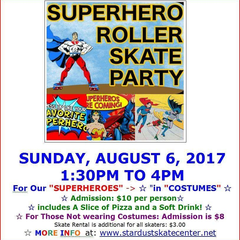SUPERHERO SKATE PARTY AT STARDUST