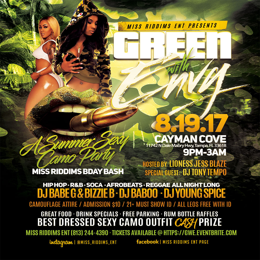 GREEN WITH ENVY: A Sexy Summer Camo Dance Party