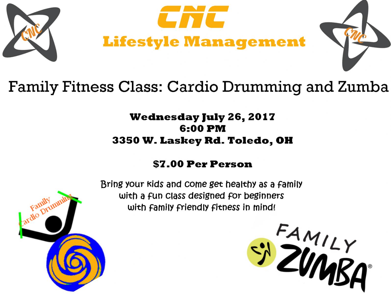 Family Friendly Cardio Drumming / Zumba Combo Class!