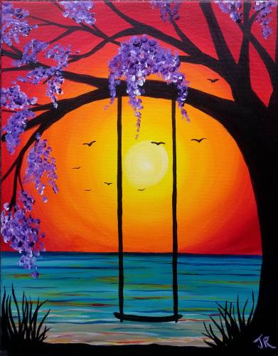 Wine & Canvas: Sunset Swing - Happy Hour til 7pm & New Menu!