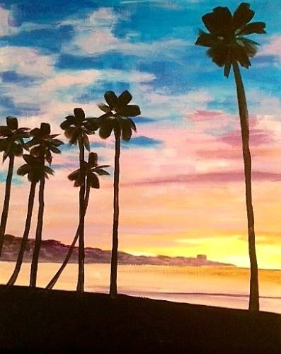 Wine & Canvas: La Jolla Sunset