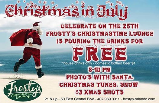 Christmas In July at Frosty's