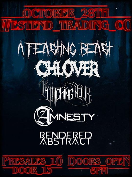 AFB / Chlover / The Witching Hour / Amnesty / Rendered Abstract