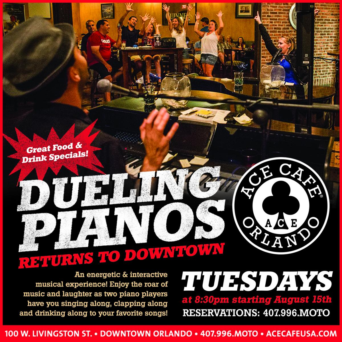 Dueling Pianos | Ace Cafe