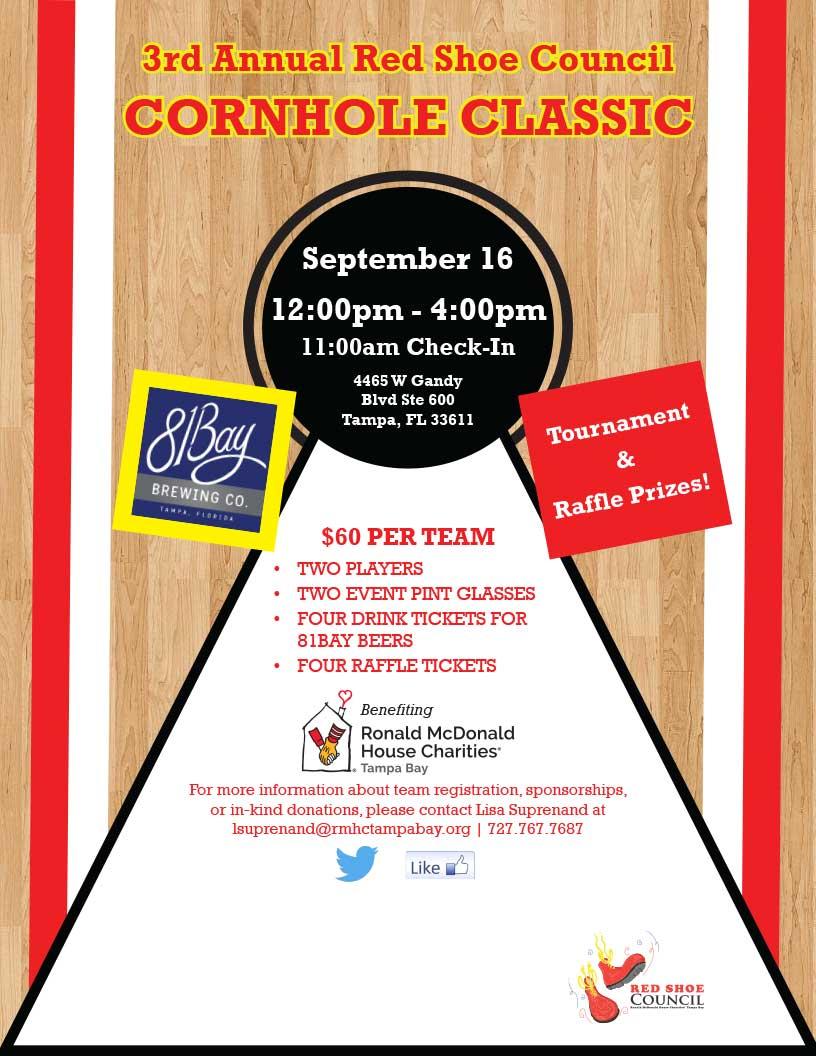 3rd Annual Red Shoe Council Cornhole Classic