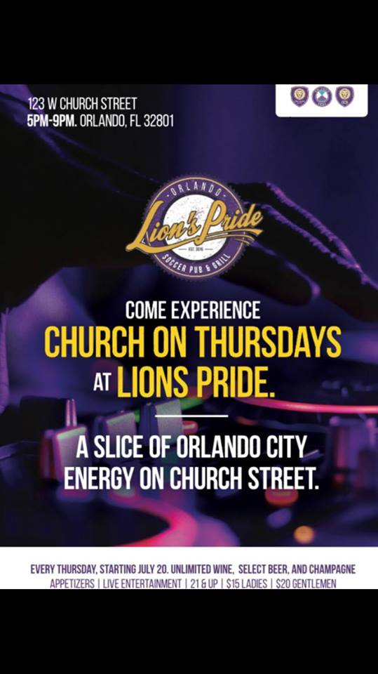 Church On Thursdays | Lion's Pride